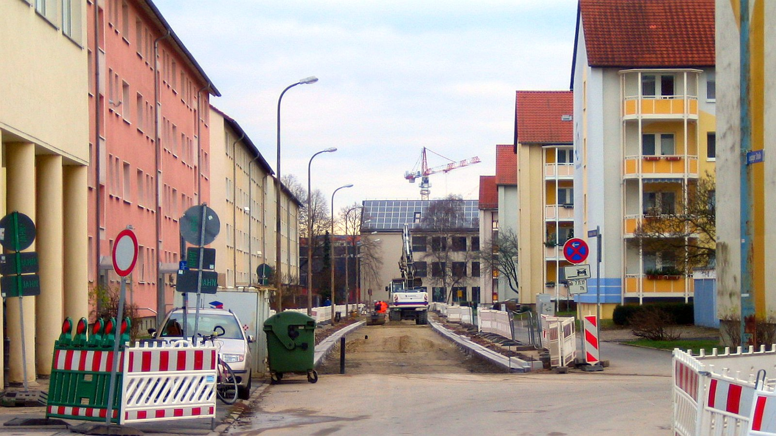 Straßenbauarbeiten in Jena