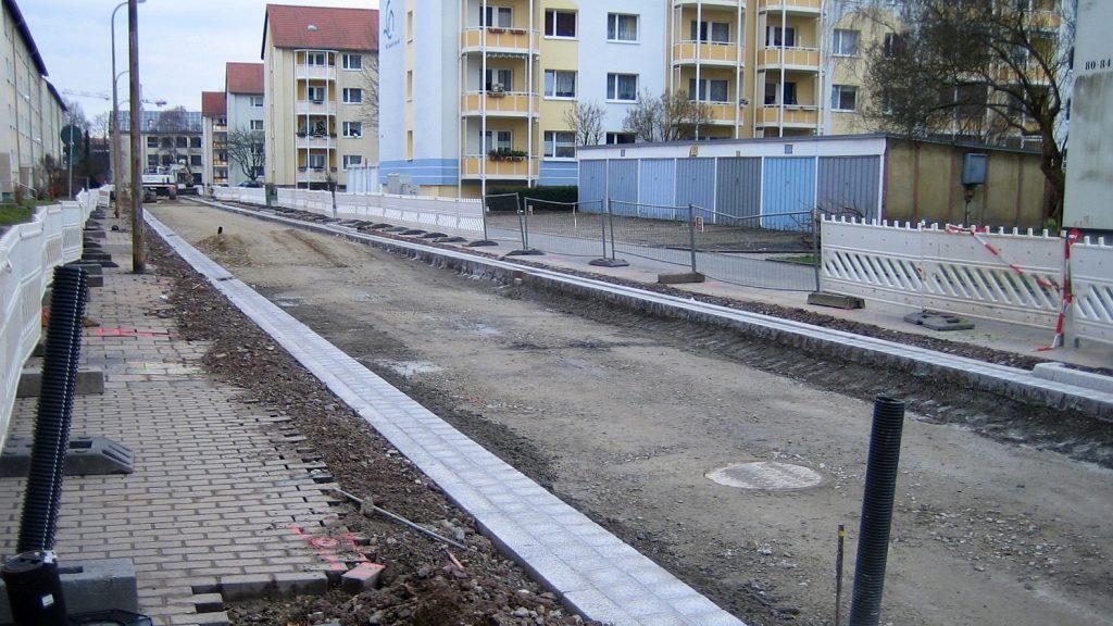Straßenbaustelle Leipziger Straße