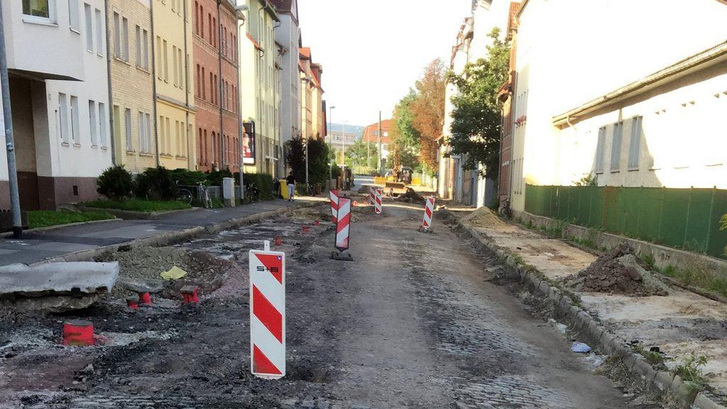 Straßen- und Kanalbauarbeiten in Jena