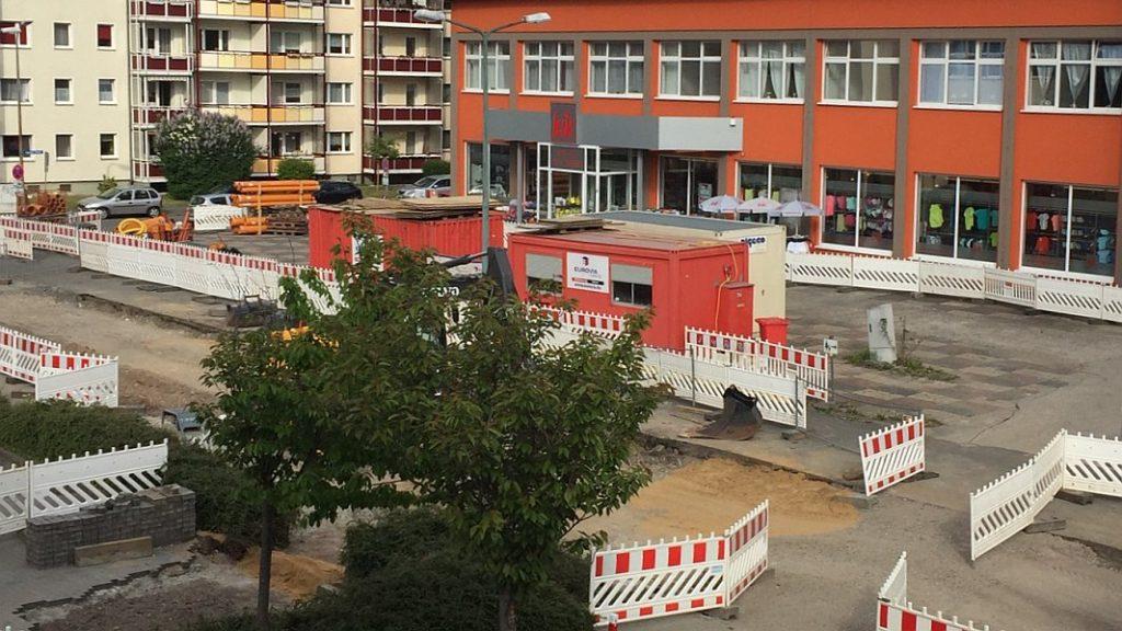 Straßenbauarbeiten in der Leipziger Straße