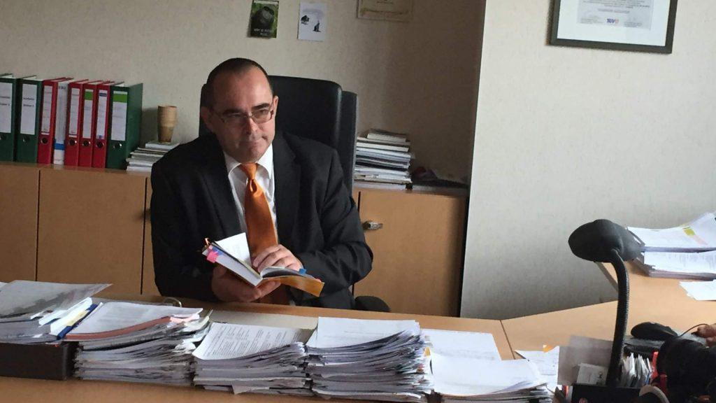 KSJ-Werkleiter Uwe Feige im TV-Beitrag des MDR