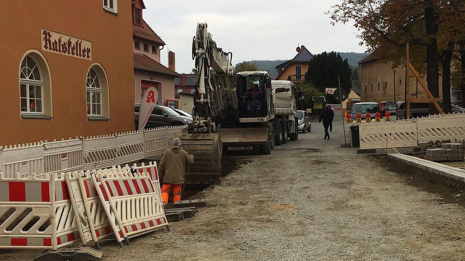 Baustelle Stadthof in Lobeda-Altstadt