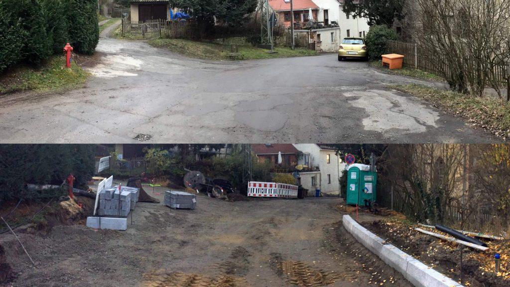 Die Lützowstraße 2015 und 2018