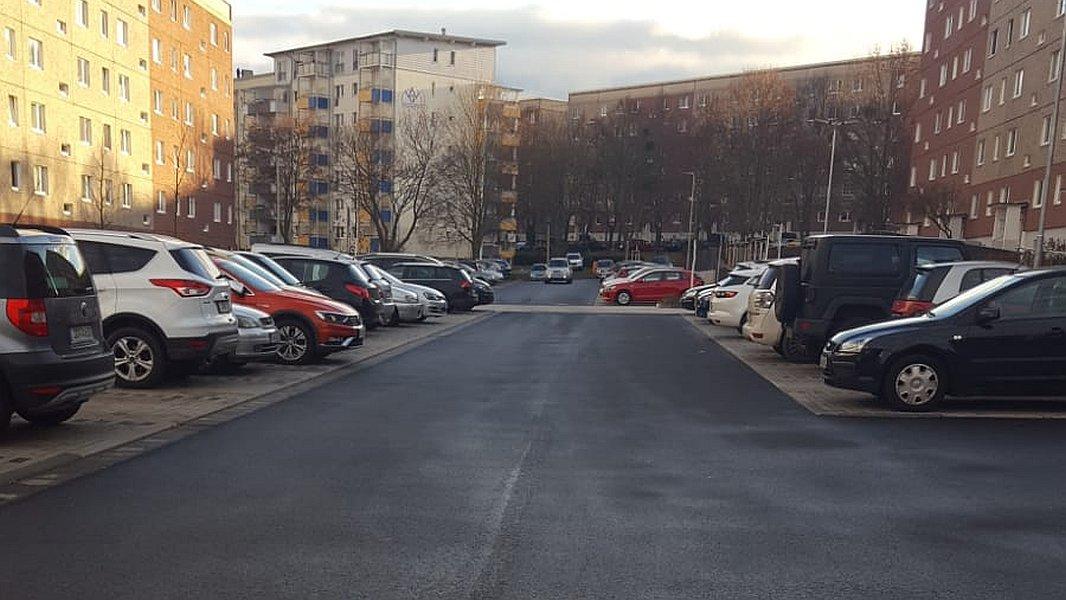 Die erneuerte Bauersfeldstraße in Winzerla