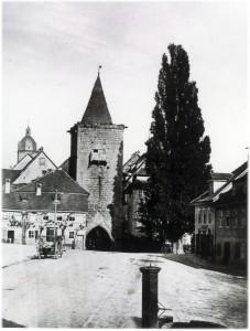 Laufbrunnen Johannisplatz vor 1900